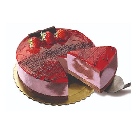 τούρτα παγωτό φράουλα
